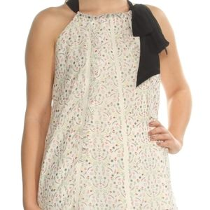 Cynthia Rowley White Placed Floral Ruffled…
